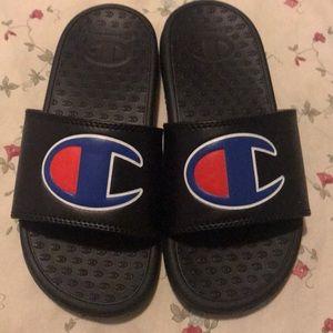 Champion Shoes - Champion Black Slide sandals boys size 1 US.